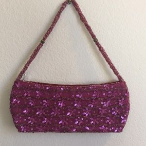 💋 3 for $15! Pink Beaded Fancy Clutch NWOT